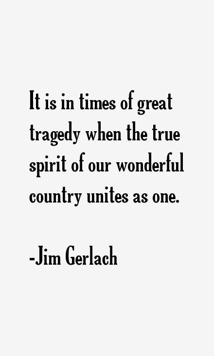In Times Of Tragedy Quote 1 Picture Quote #1