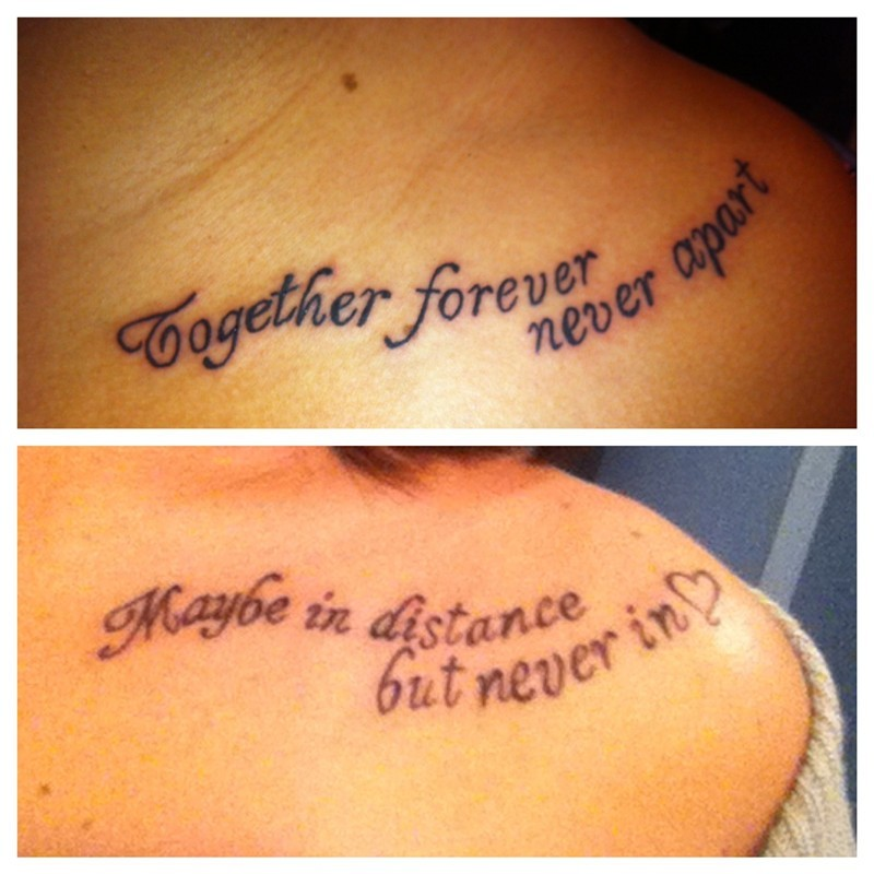 Sister Tattoo Quote | Quote Number 681624 | Picture Quotes