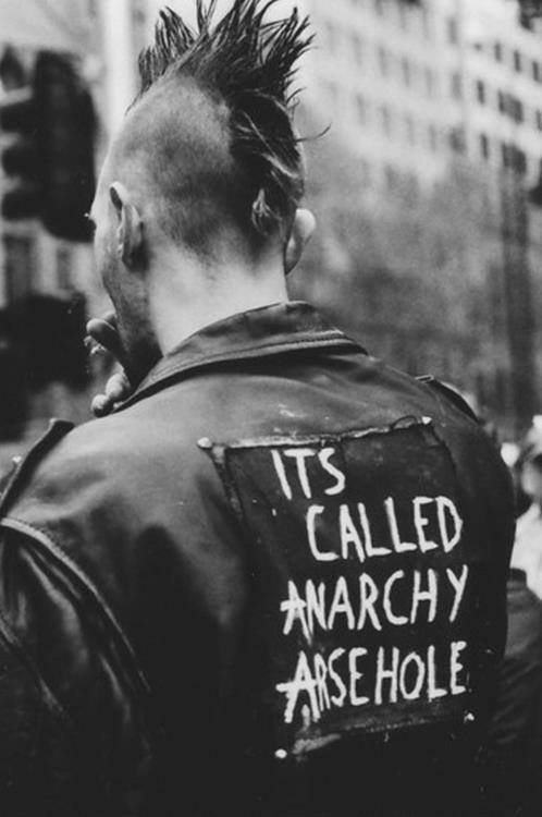 Punk Anarchy Quote 1 Picture Quote #1