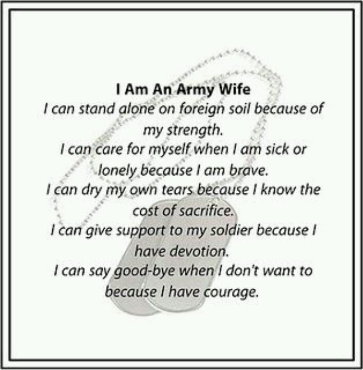 Army Wife Quote 1 Picture Quote #1