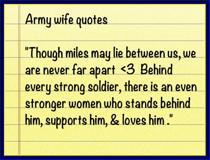 Proud Army Wife Quote 1 Picture Quote #1