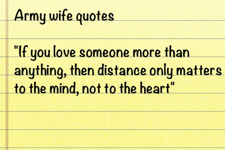 Army Wife Quote 17 Picture Quote #1