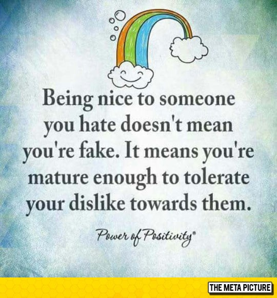 Being Nice Quote 1 Picture Quote #1