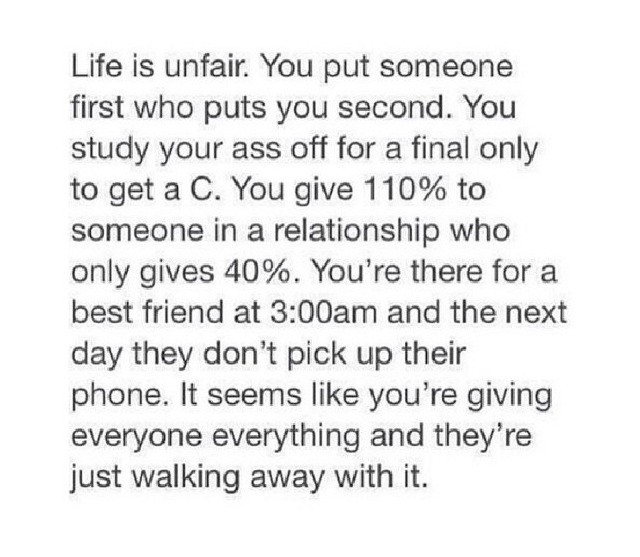 Life Is Unfair Quotes Sayings Life Is Unfair Picture Quotes