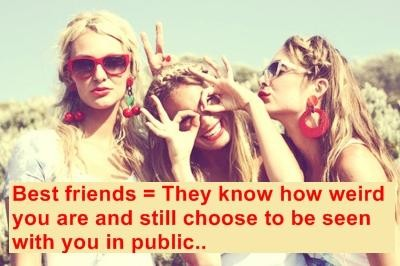 Being Weird With Friends Quote 1 Picture Quote #1