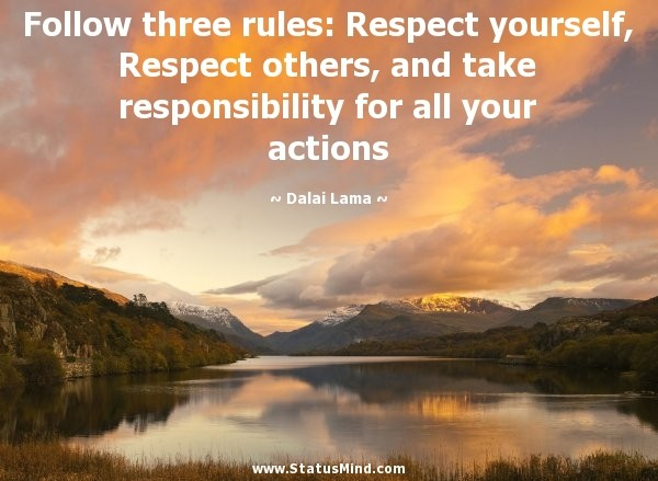 Respect Yourself And Others Quote 1 Picture Quote #1