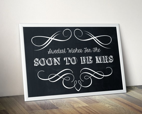 Bridal Shower Chalkboard Quote 1 Picture Quote #1