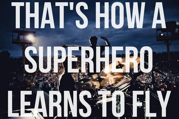 Super Heroes The Script Lyric Quote 1 Picture Quote #1