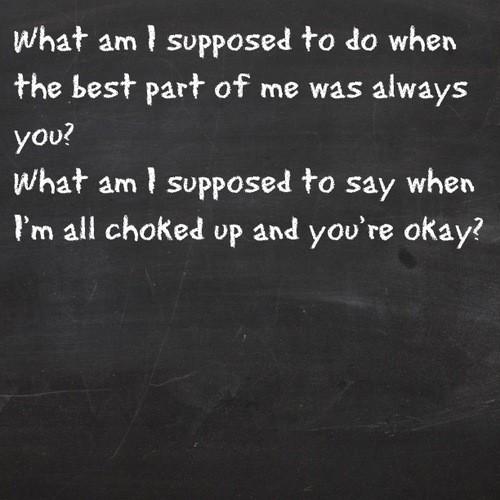 Break Even The Script Lyric Quote 11 Picture Quote #1