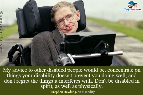 Disability Quotes Adorable Disability Quotefamous People  Quote Number 684277  Picture