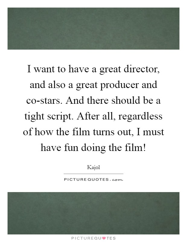 how to become a great director