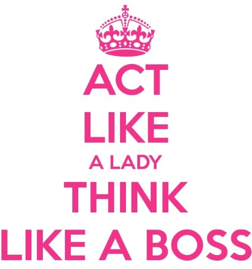 Act Like A Lady Quote 5 Picture Quote #1