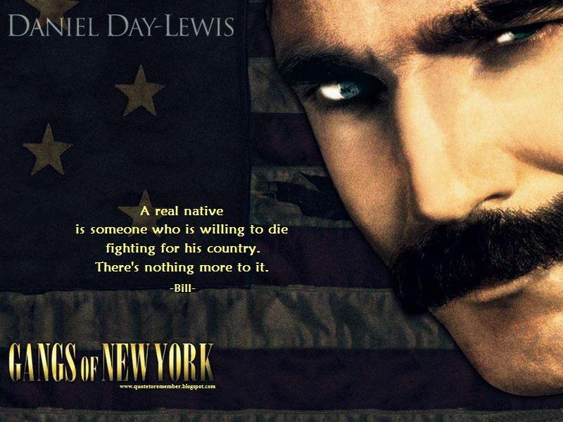Gangs Of New York Movie Quotes & Sayings