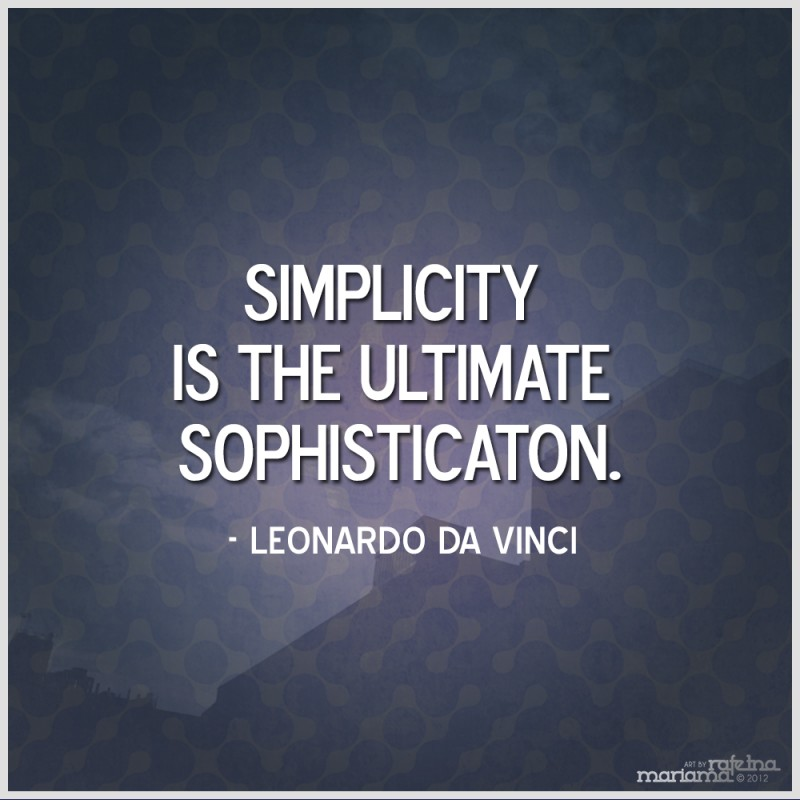 Being Simple Quote 3 Picture Quote #1