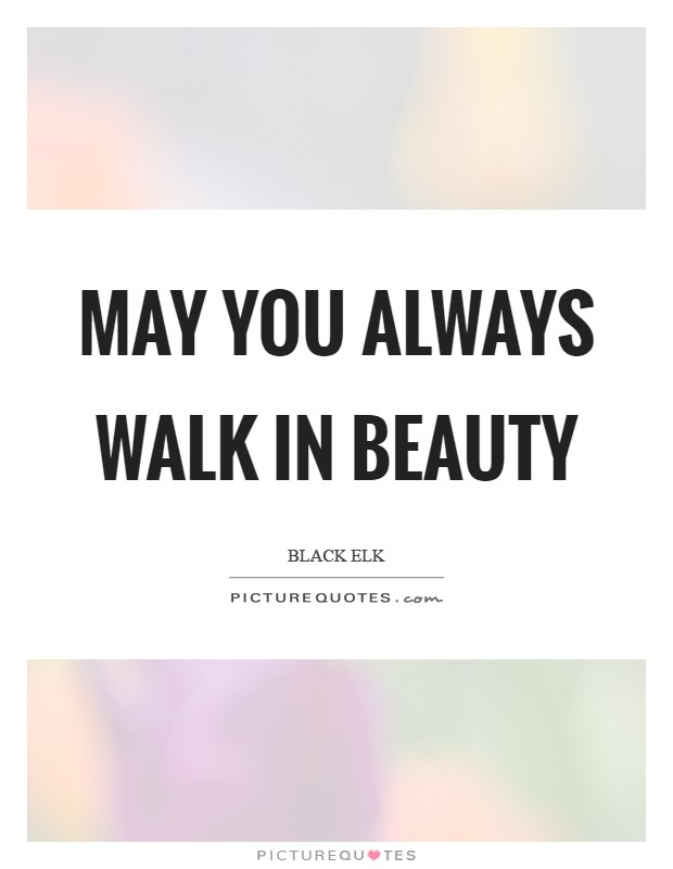 May you always walk in Beauty Picture Quote #1