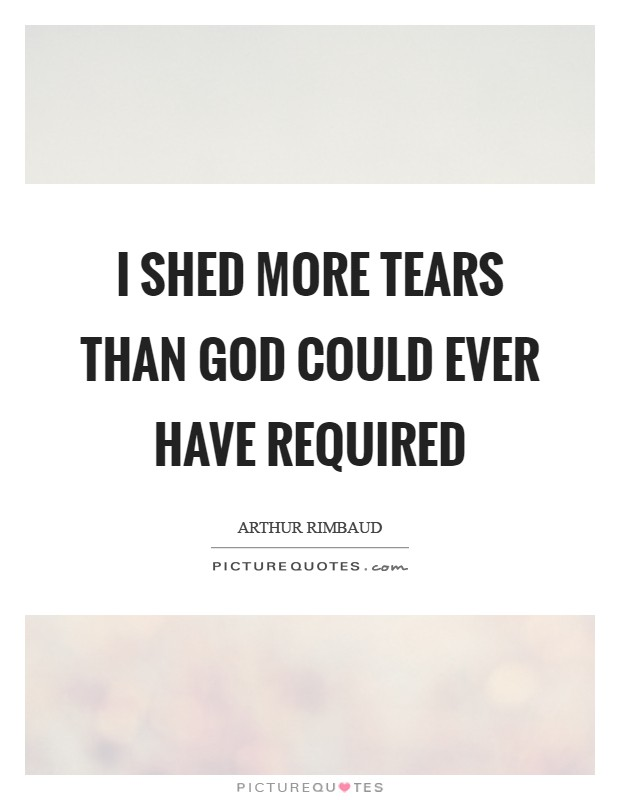 I shed more tears than God could ever have required Picture Quote #1