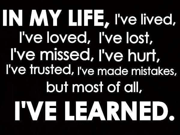 Lessons Learned Quote 1 Picture Quote #1