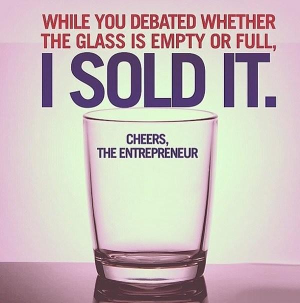 Glass Half Empty Quote 1 Picture Quote #1