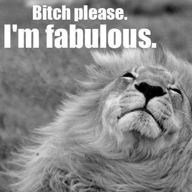 Bitch please. I'm fabulous Picture Quote #1