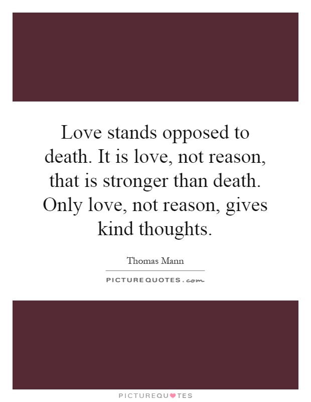 Essay on love is stronger than death