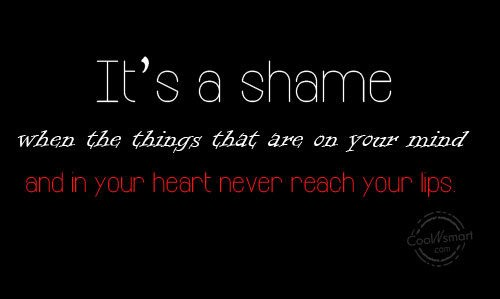 Shame Quote 5 Picture Quote #1