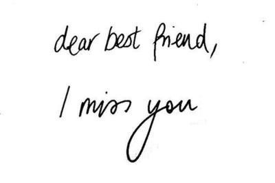 Miss You Friend Quote 2 Picture Quote #1