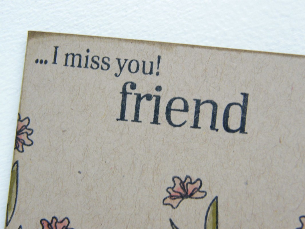 Miss You Friend Quote 6 Picture Quote #1