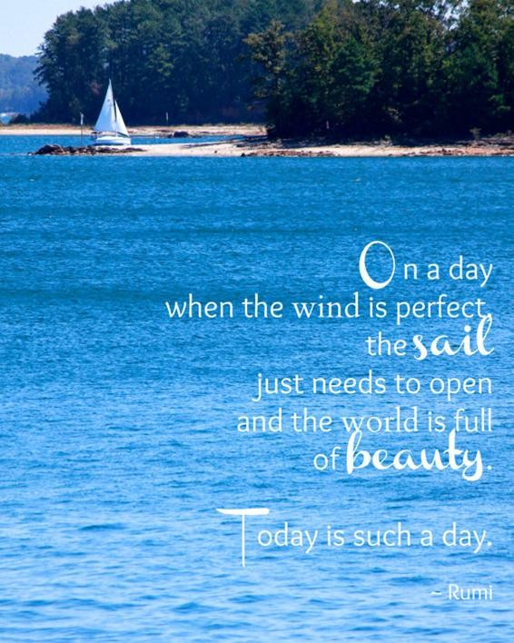 Inspirational Quote About Sunny Days 1 Picture Quote #1