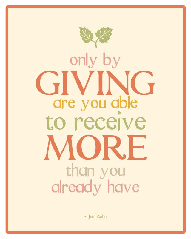 Sayings And Quote About Giving Back 1 Picture Quote #1