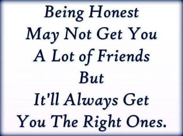 Being Honest Quote 2 Picture Quote #1