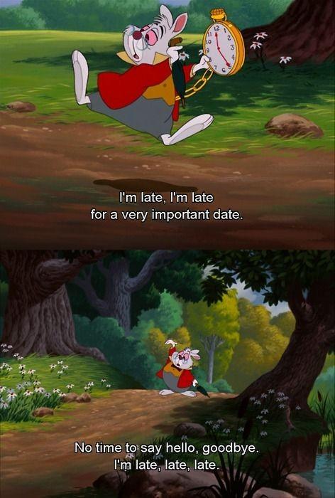 Alice In Wonderland Rabbit Quote 1 Picture Quote #1