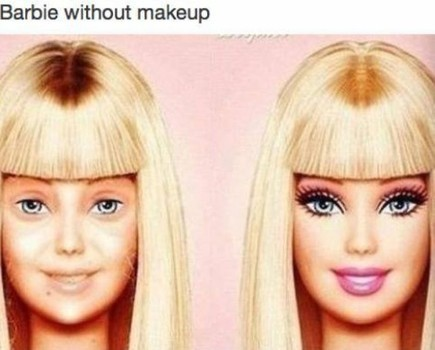 Barbie without makeup Picture Quote #1