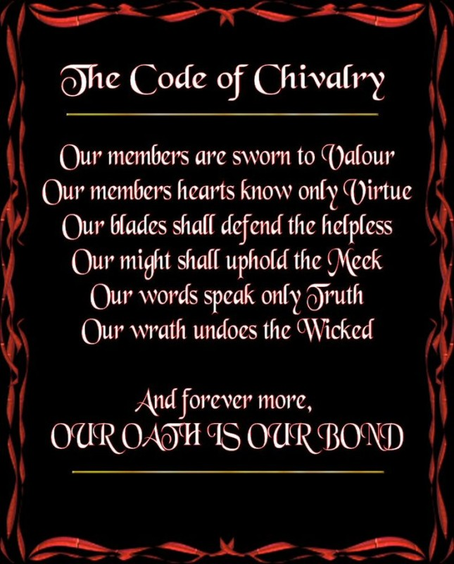 Code Of Chivalry Quote 1 Picture Quote #1