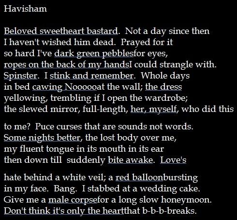 havisham story Miss havisham quotes quotes tagged as miss-havisham (showing 1-5 of 5) love her, love her, love her if she favours you, love her if she wounds you, love her.