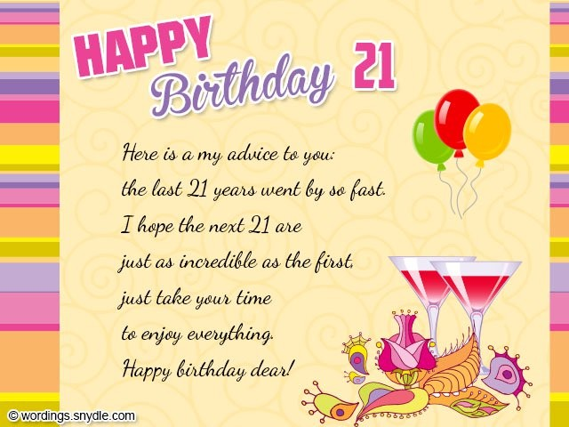 Happy 21st Birthday Quotes & Sayings | Happy 21st Birthday ...