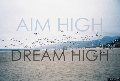Aim High Motivational Quote 1 Picture Quote #1