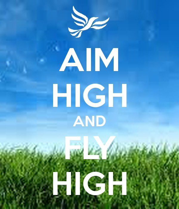 Quote Aim High Fly High 1 Picture Quote #1