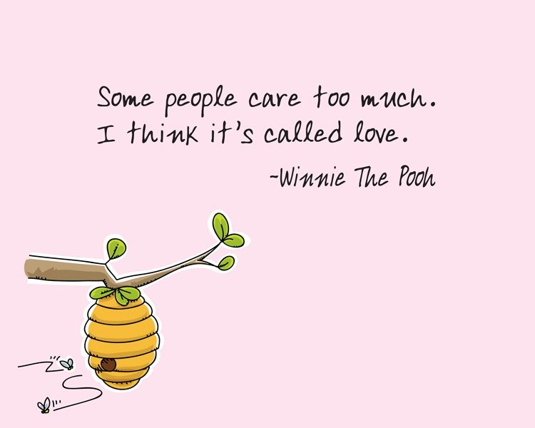 Quote About Caring Too Much 1 Picture Quote #1