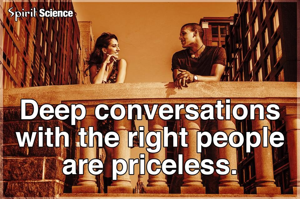 Deep Conversation Quote 1 Picture Quote #1