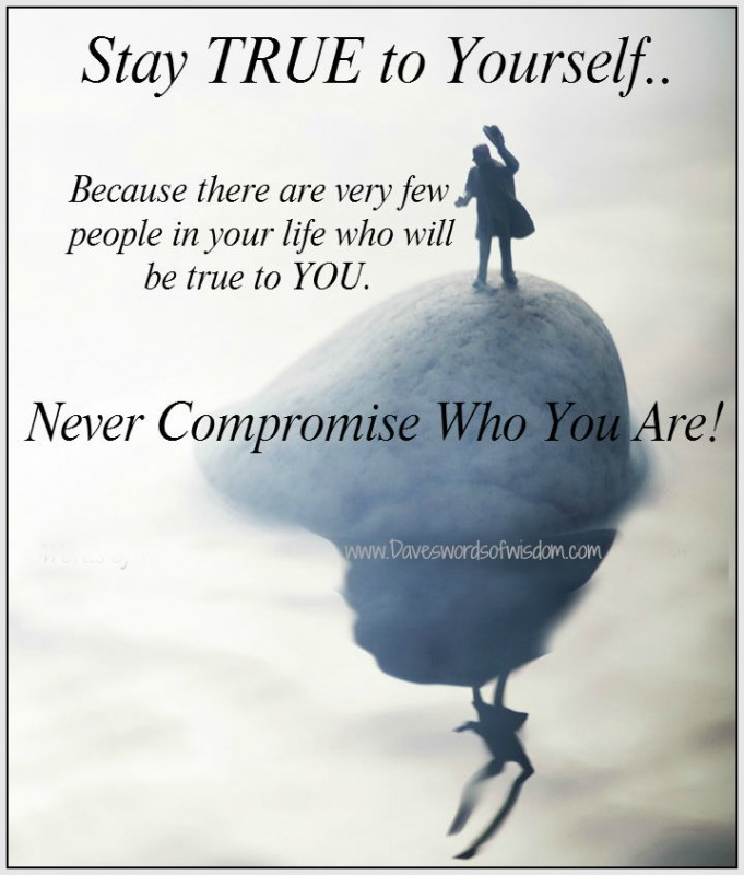 Stay True To Yourself Quote 1 Picture Quote #1