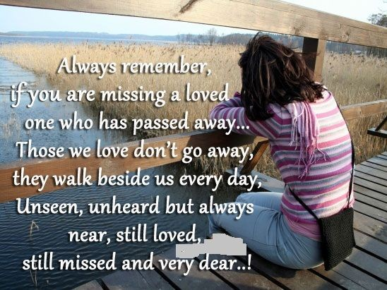 Missing Someone Who Died Quote 1 Picture Quote #1