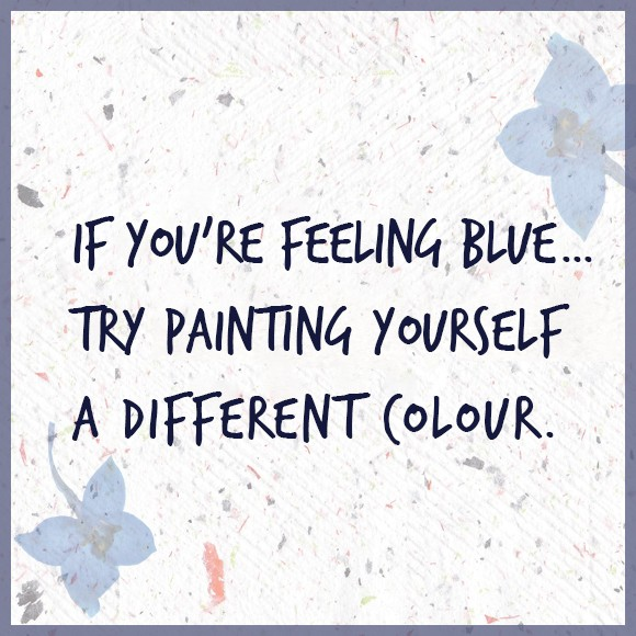 Feeling Blue Quote 1 Picture Quote #1