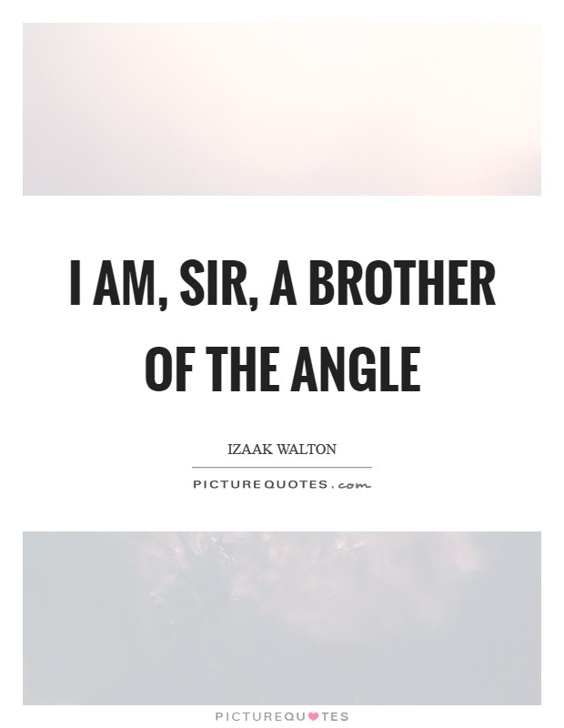 I am, Sir, a brother of the angle Picture Quote #1