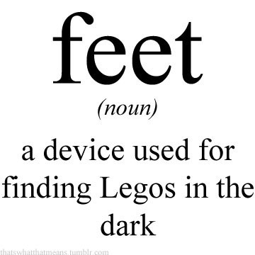 Funny Feet Quote 1 Picture Quote #1