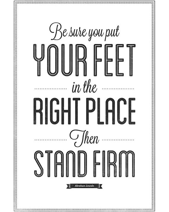 Stand On Your Feet Quote 1 Picture Quote #1