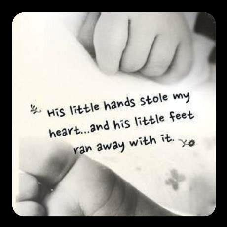 Little Hands And Feet Quote 1 Picture Quote #1