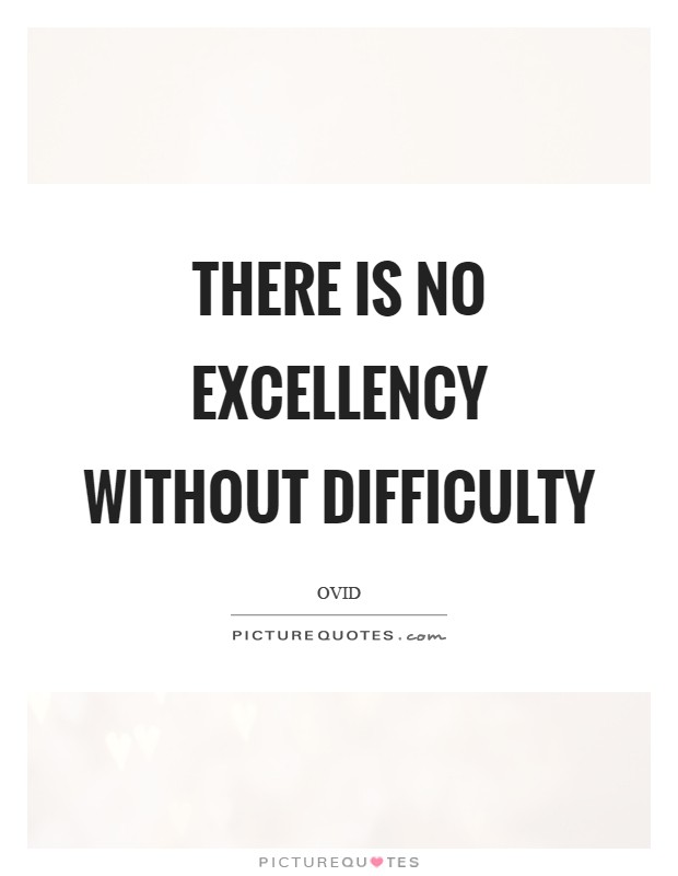 There is no excellency without difficulty Picture Quote #1