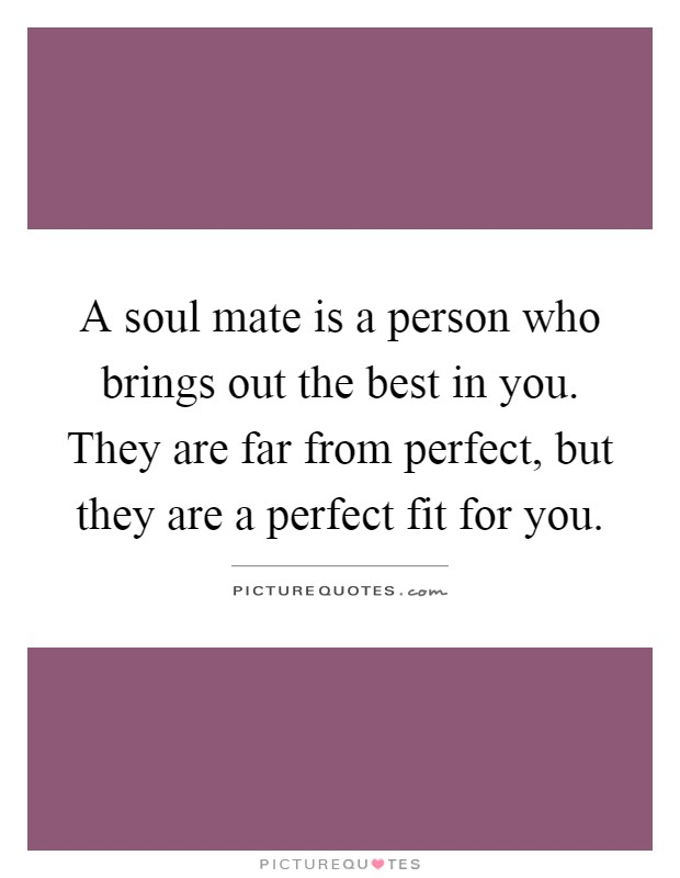 Share Soul mate virginity perfect fit consider, that