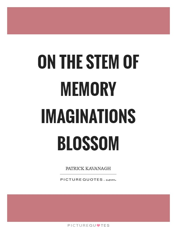 On the stem of memory imaginations blossom Picture Quote #1