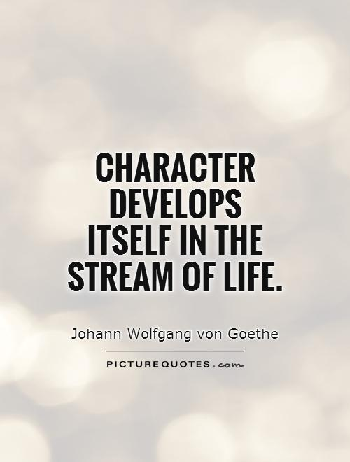 Character develops itself in the stream of life Picture Quote #1